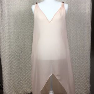 Ted Baker Baby Pink Dip Hem Maxi Cover Up Size M